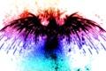 Картинка орел, необычно, радуга