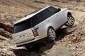 Картинка Land Rover, Range Rover, вид сзади, Ленд Ровер, Ренж Ровер, вывешивание