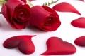 Картинка красные, розы, сердечки