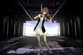 Картинка девушка, скрипка, туннель, арт, виолончель, музыкальный инструмент, loundraw