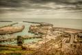 Картинка гавань, Кент, небо, облака, море, порт, город