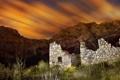 Картинка пейзаж, ночь, руины