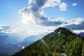 Картинка лес, небо, природа, высота, гора, Sulphur Mountain