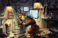 Картинка механик, роботы, инструменты, мастерская, чертежи, детали, Mechanical engineer