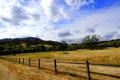 Картинка поле, лето, пейзаж, забор