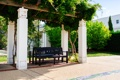 Картинка зелень, лето, скамейка, колонны