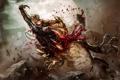Картинка кровь, воин, чудовище, схватка, Dave Wilkins