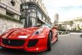 Картинка красный, город, Ferrari