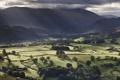Картинка зелень, вид, деревья, поля, холмы