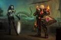 Картинка корабль, доспехи, эльфы, WoW, World of Warcraft, воины, щупальце