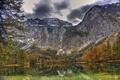 Картинка пейзаж, горы, природа, озеро, HDR, Австрия, Gmunden