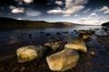 Картинка пейзаж, озеро, камни, Loch Ness