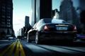 Картинка Maserati, Quattroporte, Город, Мазерати, Car, Разметка, Black