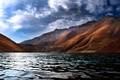 Картинка небо, облака, горы, озеро, iran, иран