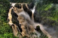Картинка скала, водопад, джунгли