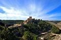 Картинка небо, облака, природа, замок, ландшафт, панорама, Испания