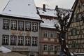 Картинка зима, город, улица, дома, крыши, германия