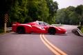Картинка дорога, Ferrari, феррари, вид сбоку, FXX