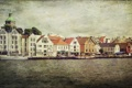 Картинка деревья, канал, дома, лодки