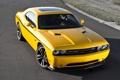Картинка желтый, мускул кар, додж, dodge, challenger, muscle car, srt8