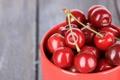 Картинка лето, миска, фрукты, спелая сочная черешня
