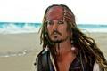 Картинка Пираты Карибского моря, Pirates of the Caribbean, Джони депп, капитан Джек воробей