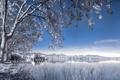 Картинка пейзаж, озеро, Infrared