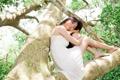 Картинка лето, девушка, дерево