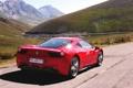 Картинка Красный, Авто, Дорога, Горы, День, Ferrari, 458