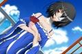 Картинка цветок, небо, девушка, облака, аниме, арт, повязка
