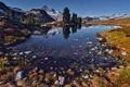 Картинка горы, озеро, домик