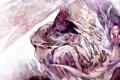 Картинка аниме, арт, рога, посох, парень, azalea дракон