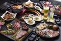 Картинка мясо, напитки, овощи, блюда, ассорти, закуски