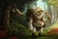 Картинка лес, дерево, гриб, арт, грибник, Alekyan, Константин Алекян