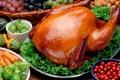 Картинка зелень, ягоды, блеск, курица, пища, тарелки, перец