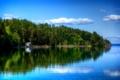 Картинка США, облака, река, Lilliwaup, небо, лес, домик