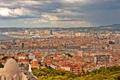 Картинка город, фото, Франция, дома, сверху, Marseille