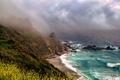 Картинка море, пляж, тучи, шторм