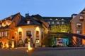 Картинка огни, улица, Франция, дома, вечер, фонари, Alsace