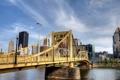 Картинка город, мост, Pittsburgh, Pennsylvania