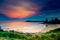 Картинка море, пляж, небо, закат, берег