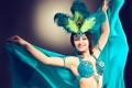 Картинка перья павлина, костюм, танцовщица, улыбка, девушка, руки