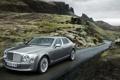 Картинка дорога, скалы, Bentley, 2011, Mulsanne