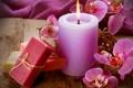 Картинка цветы, свеча, мыло, орхидеи, soap, flowers, candle