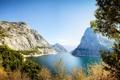 Картинка пейзаж, горы, природа, озеро, парк, фото, США
