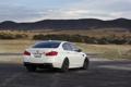Картинка горы, BMW, БМВ, вид сзади, f10, линия горизонта, matte white
