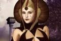 Картинка девушка, Star Wars, прическа, королева, рендер, Amidala
