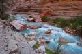 Картинка скала, река, камни