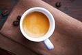 Картинка кофе, зерна, чашка, белая, напиток
