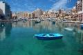 Картинка море, небо, дома, лодки, гавань